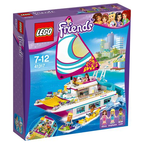 lego fishing boat kmart lego friends sunshine catamaran 41317 kmart