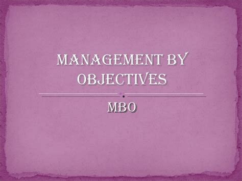 management by objectives template management by objectives exles on sales images frompo
