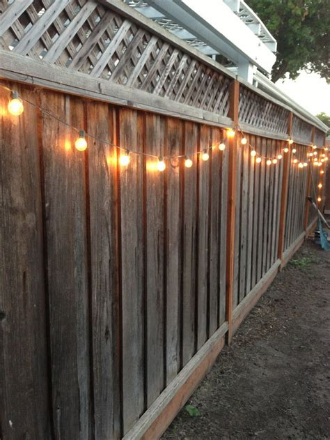 Outdoor Fence Lighting 25 Best Ideas About Fence Decorations On Privacy Fence Decorations Solar Lights