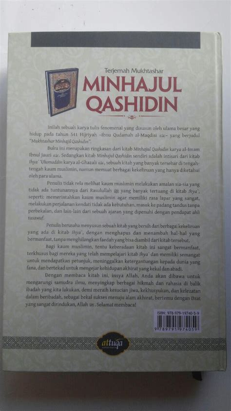 Mukhtashar Minhajul Qashidin Ibnu Qudamah Al Maqdisi Darulhaq buku terjemah mukhtashar minhajul qashidin