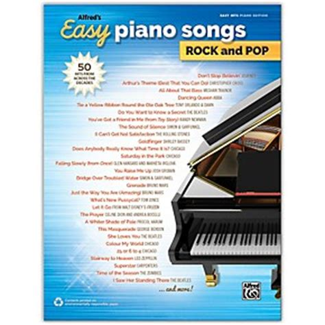 rock the luckiest in pop books alfred alfred s easy piano songs rock and pop easy hits