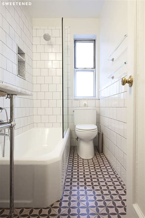 Cheap Bathroom Tiles Nyc Apartment Bathroom Update Bathroom Floor Tile The Cement