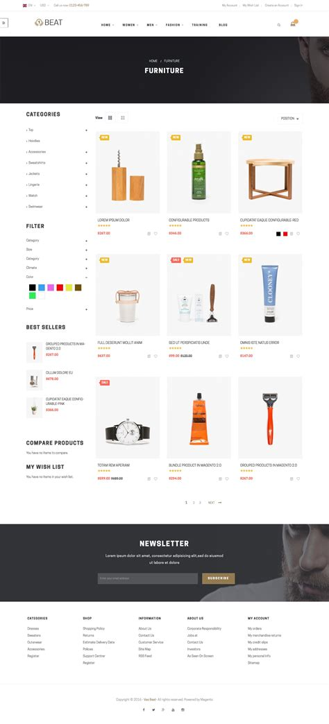 ves beat magento 2 2 x responsive template by venustheme