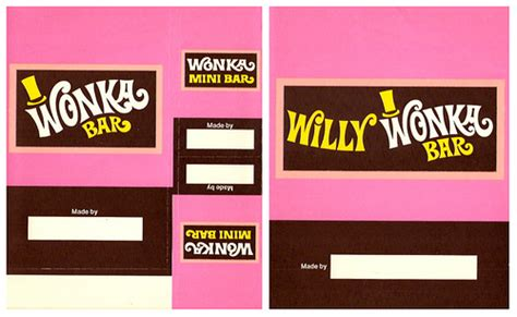 willy wonka bar wrapper template vintage 70 s wonka kit chocolate bar wrappers