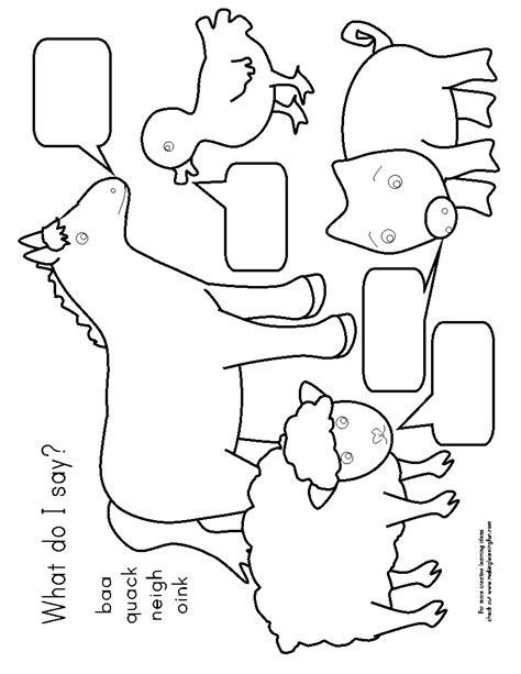 old macdonald pages coloring pages
