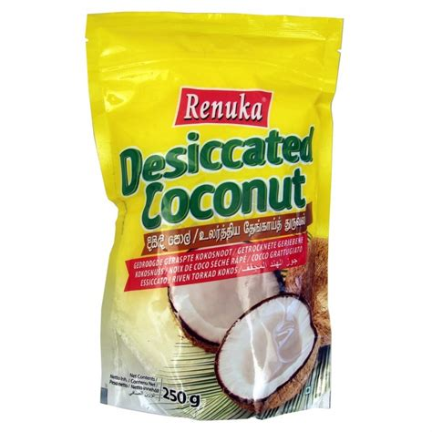 desiccated coconut renuka 250 g foodland