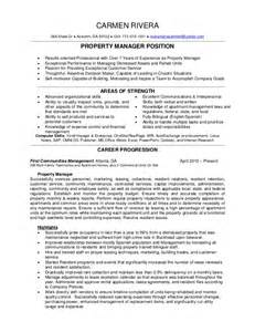 property manager resume rivera 2015