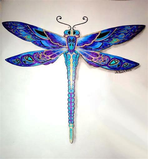 best blue best blue dragonfly tattoo design