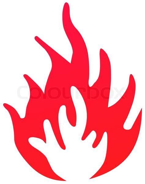 Home Design Plans Free by Fire Symbol Red Stock Photo Colourbox