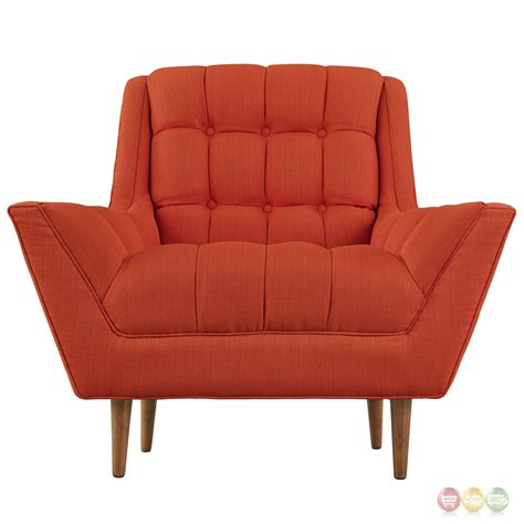 tufted armchair response contemporary button tufted upholstered armchair atomic red