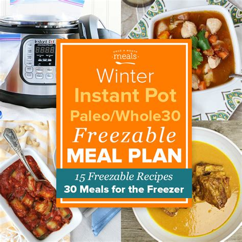 30 day whole food instant pot challenge top 100 whole food instant pot recipes whole food approved fast and easy electric pressure cooker recipes books winter paleo instant pot mini menu vol 1 whole30