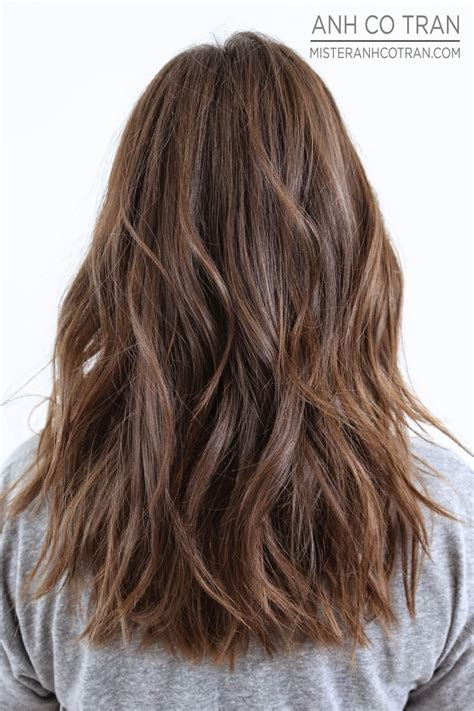 textured layered wavy hair by anh co tran hair with a best 25 long textured hair ideas on pinterest textured
