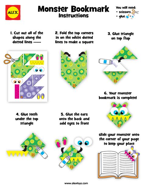 printable monster bookmarks monster bookmark printable alexbrands com