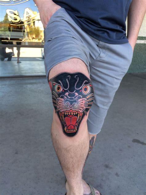 traditional panther head tattoo stomach amp rib tattoo