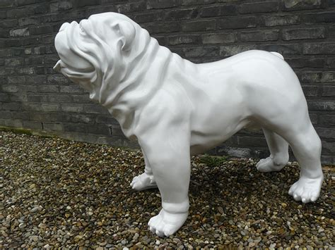 Outdoor Candle Sconces Wall Statue Lacquered English Bulldog Jardinchic