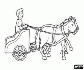 Of Ancient Rome In His Chariot Drawn By Two Horses Coloring Page sketch template