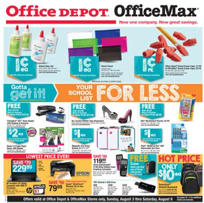 Office Depot Weekly Ad Best School Supply Deals Week Of August 2