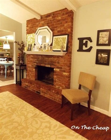 Wall Color With Brick Fireplace by Best 25 Brick Fireplaces Ideas On