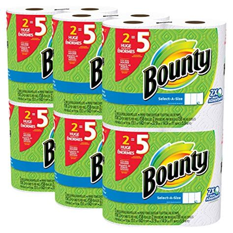 Who Makes Bounty Paper Towels - bounty select a size paper towels white roll 12