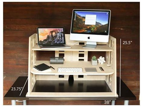 ervo sit to stand desk perch wooden sit to stand desk provides you a flexible and