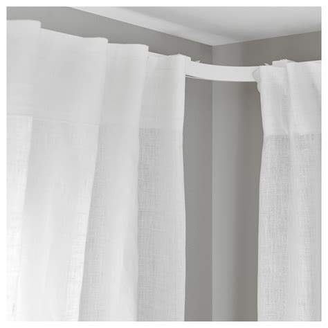 corner curtain tracks vidga corner piece single track white ikea
