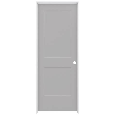 Jeld Wen 32 In X 80 In Smooth 2 Panel Driftwood Solid 32 Interior Door