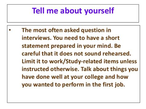 Tell Me About Yourself In Mba by Mba Mock