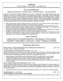 Collection Manager Resume