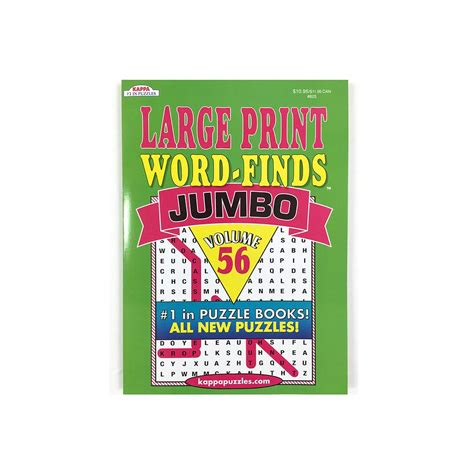 jumbo large print word finds puzzle book word search volume 73 books 48 units of kappa jumbo large print word finds puzzle book
