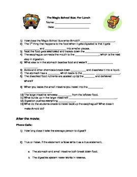 magic school for lunch worksheet worksheets for all