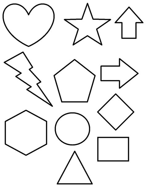 printable shapes with color free printable shapes coloring pages for kids