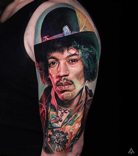 jimi hendrix tattoo sleeve tattoos best ideas designs