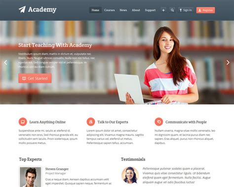 themes wordpress learning academy learning management wordpress theme