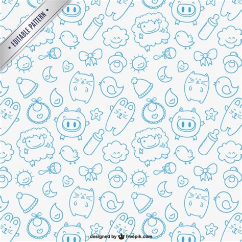 patterns for babies free sketchy baby pattern vector free