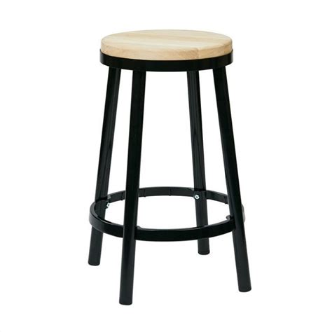 office bar stools office star bristow metal backless stool black bar stool
