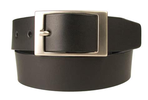 mens quality leather belt made in uk black 35mm wide