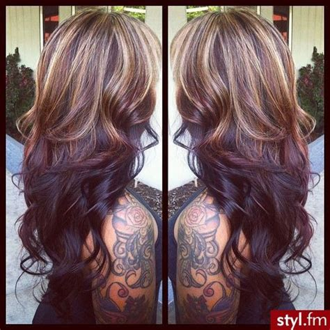 hair color light on top dark on bottom 1000 images about blonde highlights on dark hair on