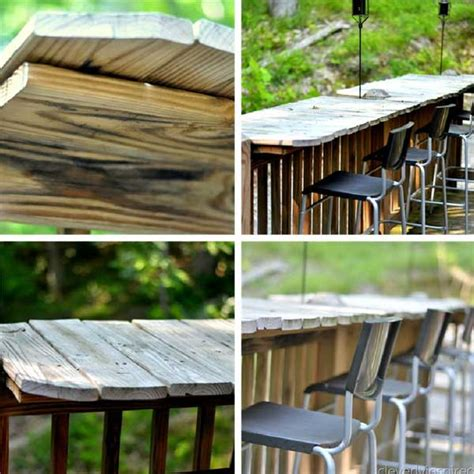creative   budget diy outdoor bar ideas