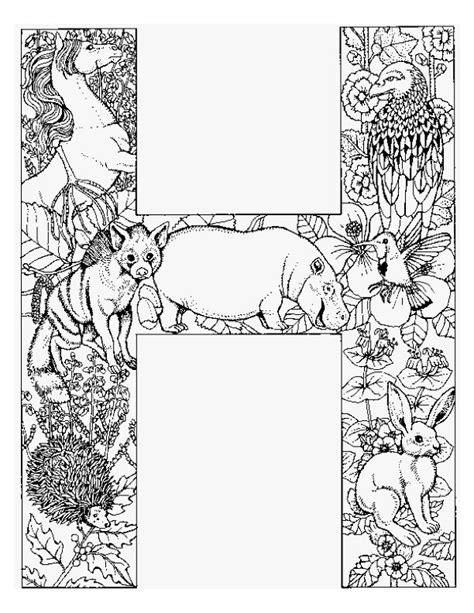 difficult alphabet coloring pages kleurplaten en zo 187 kleurplaat van letter h