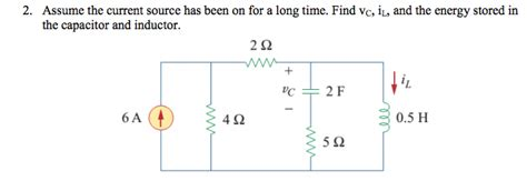 energy inductor capacitor find vc i1 and the energy stored by the capacitor chegg