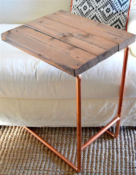 diy copper pipe table legs metal pipe laptop table home depot gift challenge laptop table pipes and metals