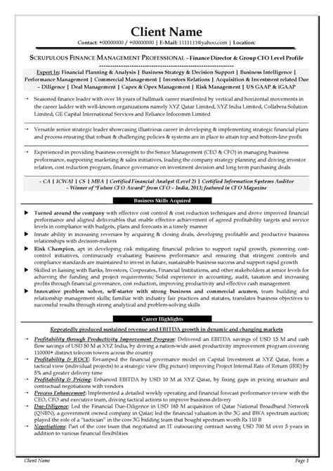 resume format for finance executive in india financial analyst description india word template
