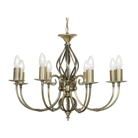 Antique Brass Lights Ceiling by Oaks Lighting 3380 8ab Tuscany Antique Brass 8 Light