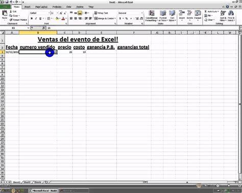 tutorial excel 2010 espanol microsoft excel 2010 en espanol parte 1 youtube