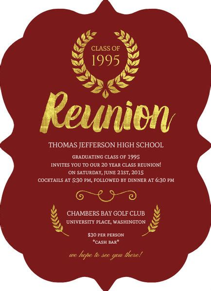 class reunion invitation wording reunion wording ideas