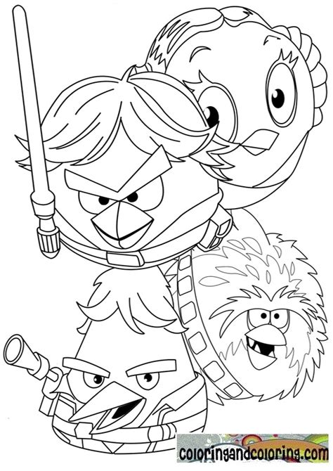 Free Angry Birds Star Wars Coloring Pages Coloring Pages Angry Birds Wars