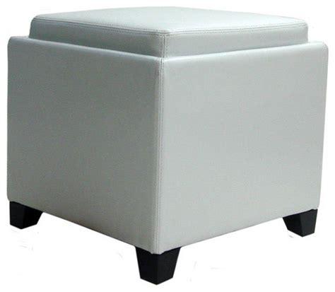 modern white ottoman contemporary storage ottoman with tray white