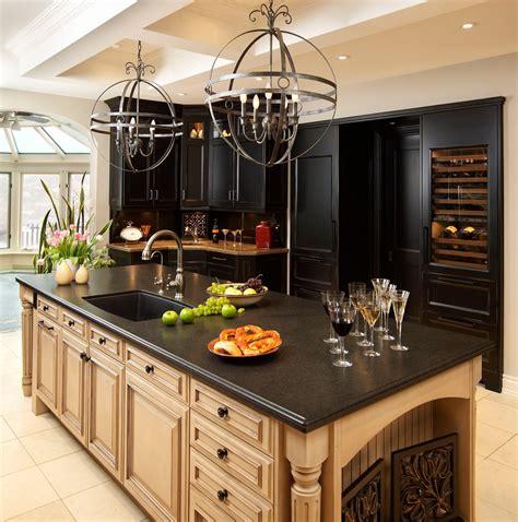 classic modern minimalist kitchen design with black pearl