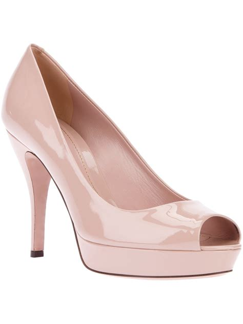Heels Shoes Gucci C350 559 gucci peep toe in pink lyst