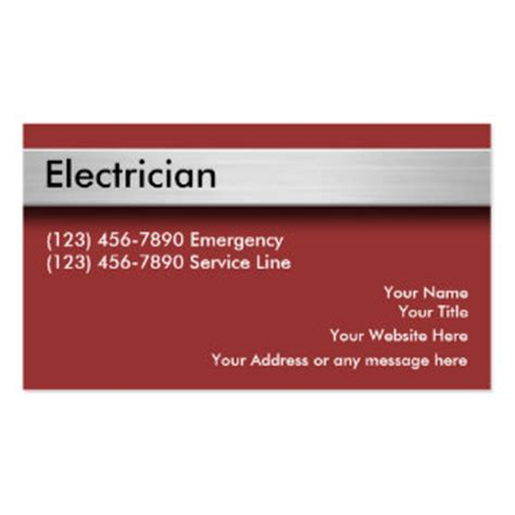 electrician business cards templates free electrical contractor business cards templates zazzle